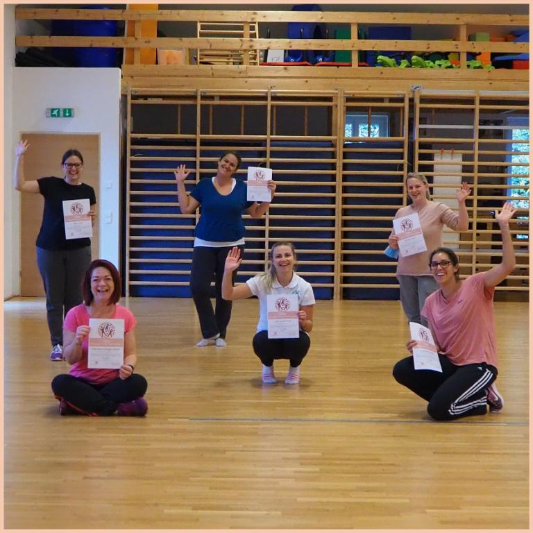 Abschluss Dipl. Bewegungstrainerin für Eltern-Kind-Gruppen